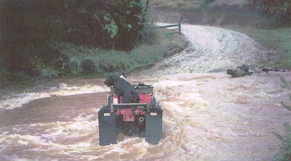 Crossing during flooding